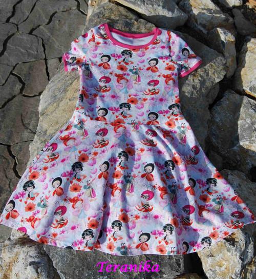 """Dívčí šaty \""""luční víly\""""... vel.128"""