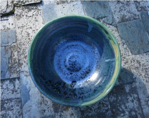 Keramická miska s efektní glazurou