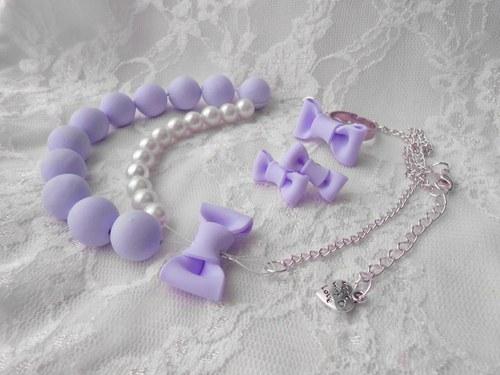 Mašličkový set pastelová fialová