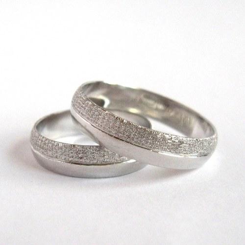 Spolu (snubní prsteny; bílé Au 585/1000)