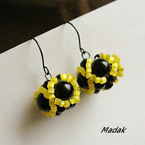 black & yellow ... náušnice, VÝPRODEJ z 99,-