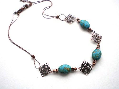 Mramorovaný-náhrdelník
