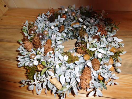 Vánoční věnec na dveře - přírodní