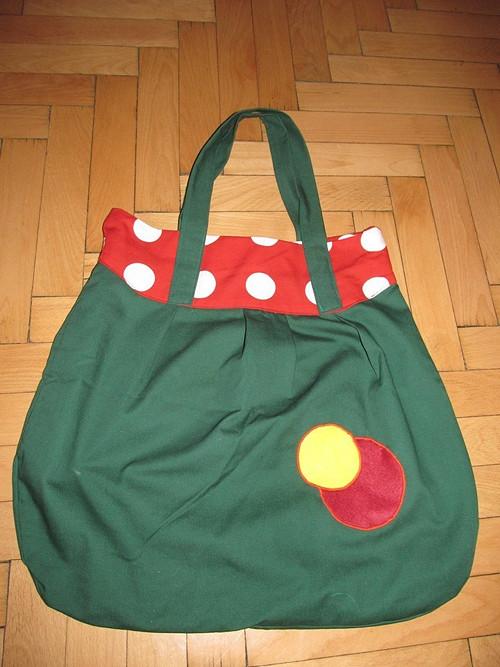 """Zelená taška - \""""vak\"""""""