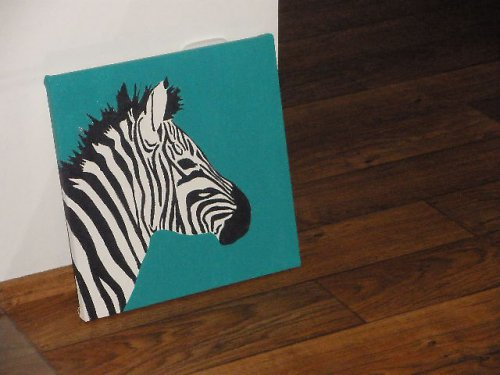 Zebra v zeleném - Zebra in green