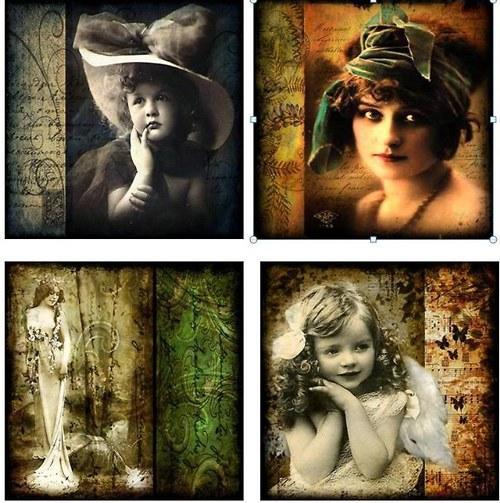 Nažehlovací obrázky - Vintage Collage