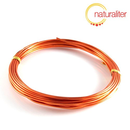 Hliníkový drát oranžový, 1,5mm x 6m