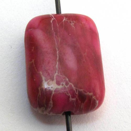 Korálek růžový  variscit obdélník 14mm