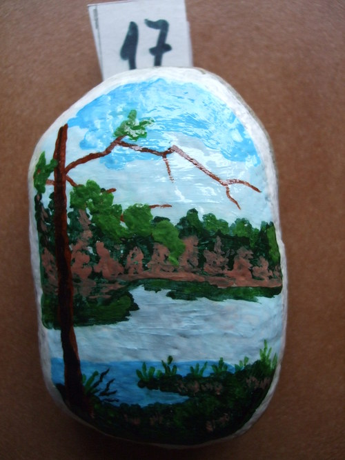 Malovaný kámen-U jezera