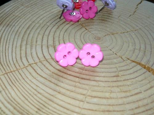 Kytičky světle růžové - naušnice