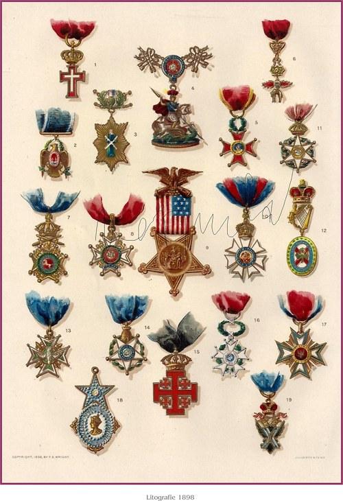 Medaile a řády