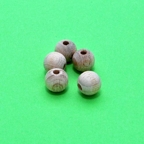 Korálky dřevěné 5 ks / 10 mm