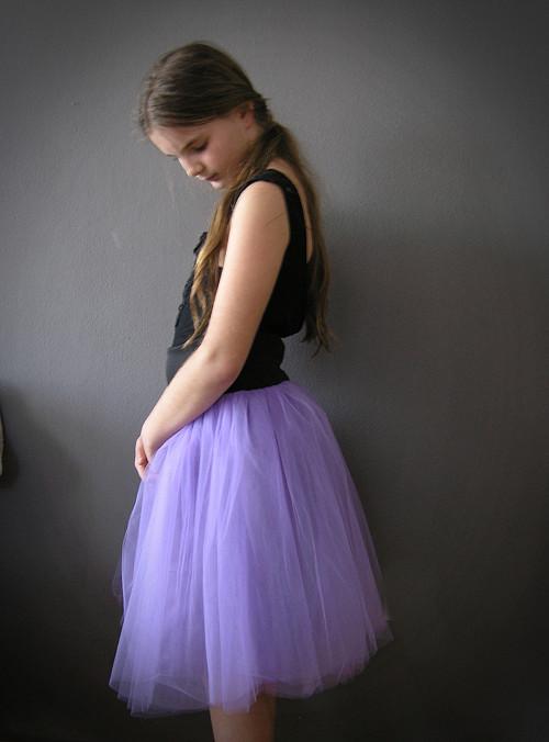Tylová sukně  LILA ...barva na přání