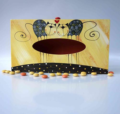 pelíšek pro trpaslíka - žlutý s tulínky