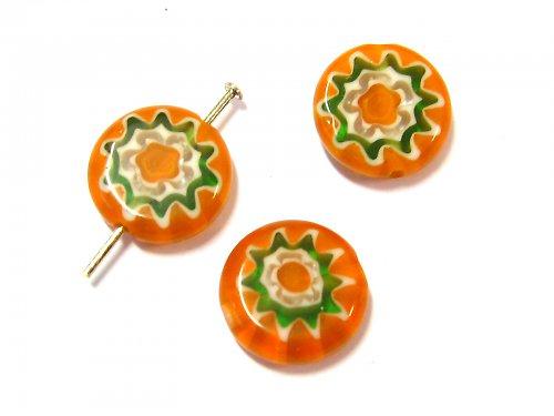 1100332/Placička Millefiroi oranžová, 1 ks
