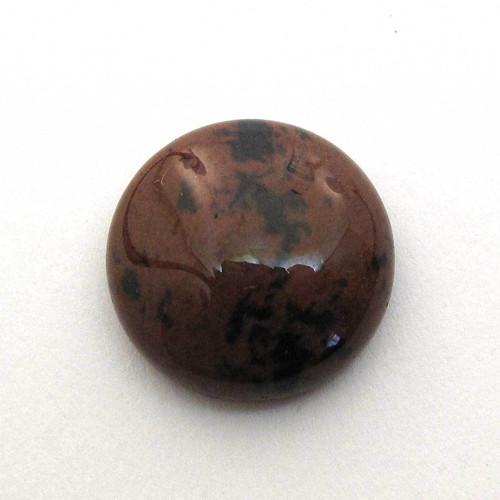Kabošon  mahagonový obsidián kruh 15mm
