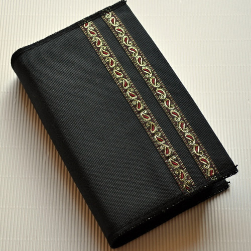Zlatočervený ornament, tmavě šedá - obal na knihu