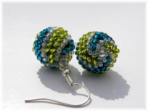 Spirálky - modro-zelené