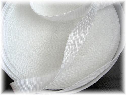 popruh bílý,šíře 20 mm