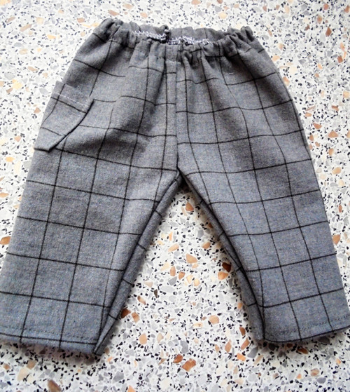 kostkované kalhoty-50-55 cm