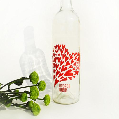 Srdíčka,srdíčka,srdíčka - etikety na svatební víno