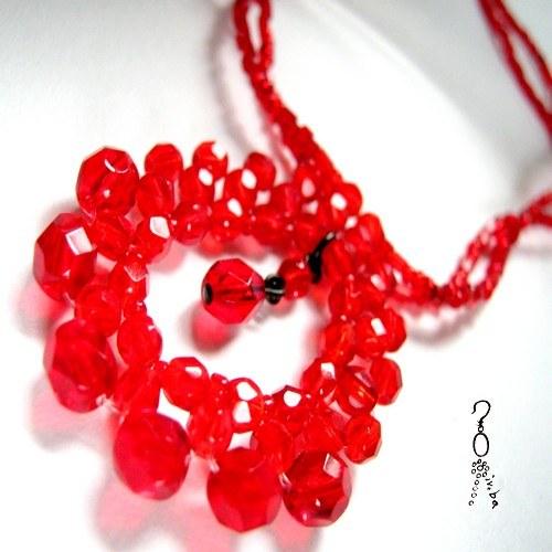 Náhrdelník Červená krása