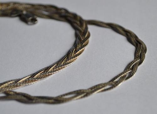 Cesty - náhrdelník a náramek - Ag