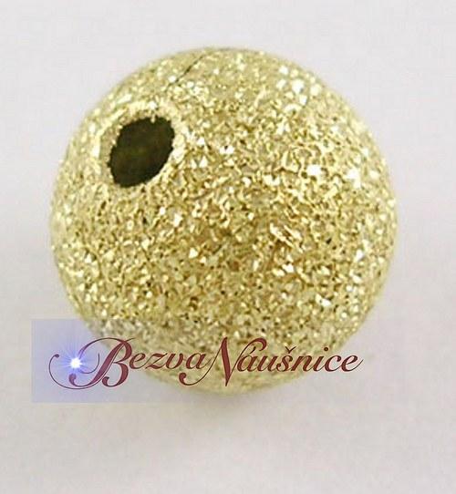 Mosazný korálek stardust - barva zlatá