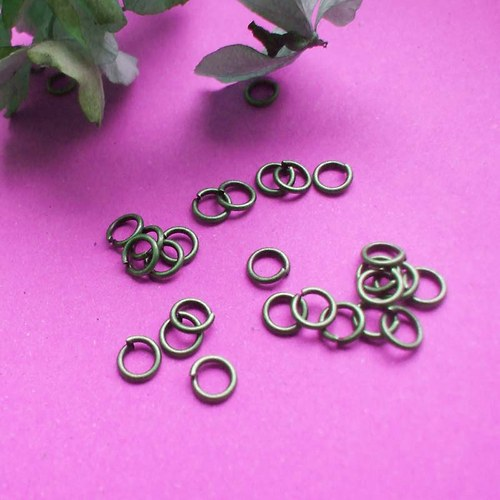 Spojovací kroužek, Ø 6mm, tl.1mm, staroměď, 100ks