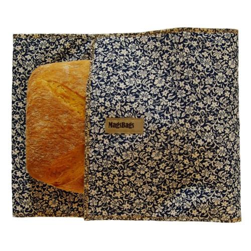 Chlebapsa-kapsa na chléb, modrá s kvítky