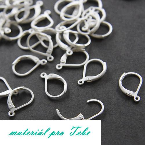 háčky do uší - stříbrné kapky - 2 páry - 4ks
