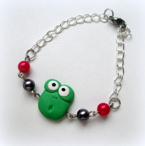 Žabka - dětský náramek