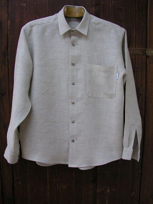 Pánská lněná košile režná ze 100% lnu XXL