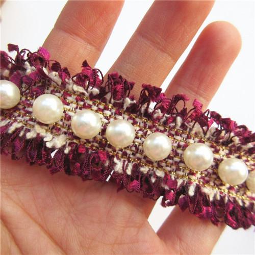 Prýmek s perličkami - 10 cm