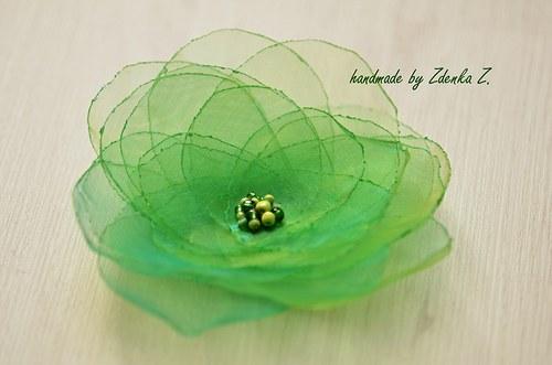 Elegantní zelená brož
