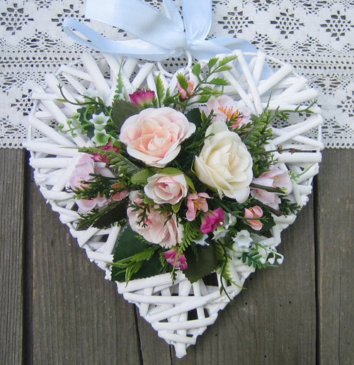 Srdíčko s růžemi - sleva ze 189,-