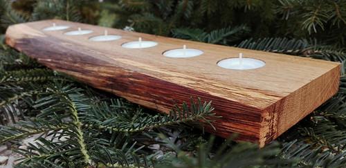 Dubový svícen pro 6 svíček