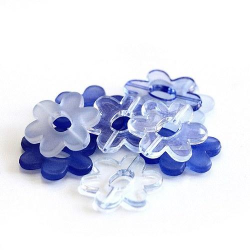Plastové kytičky - 10ks
