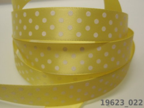 19623-B01 Stuha 16mm žlutá/puntík, bal. 3m