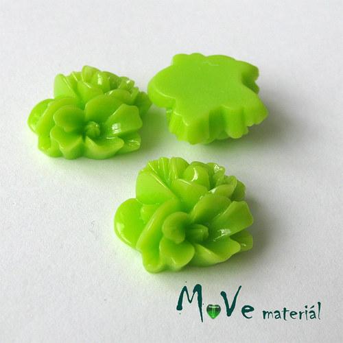 Kabošon květy lesklý A8 - resin - 2ks, hráškový