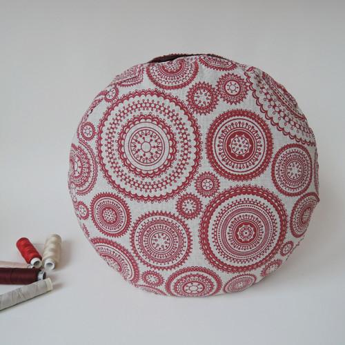 Režný s vínovými mandalami - meditační polštářek