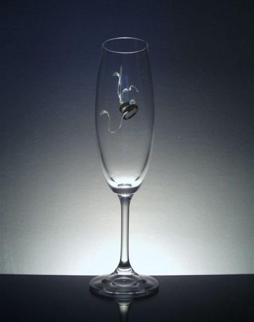 svatební ŠAMPUSKA s prstýnky