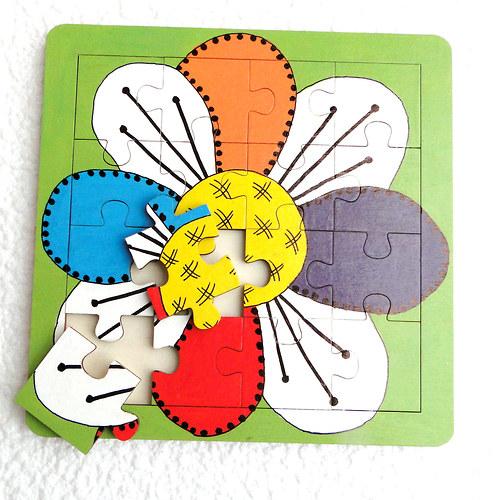 Dětské puzzle - kytka