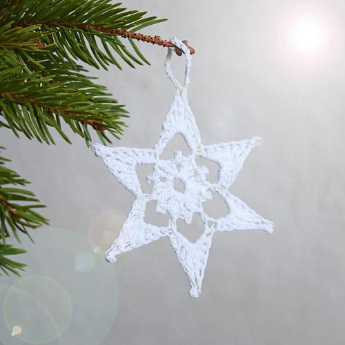 Vánoční hvězdička 11 - bílá
