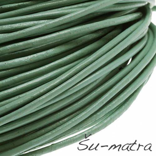 Kulatá kůže přírodní zelená, 2 mm (1 m)