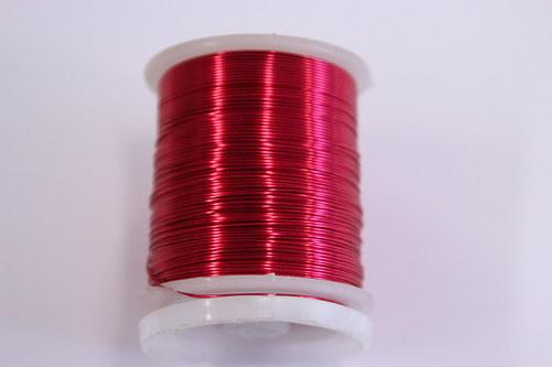 Měděný drátek 0,8mm - růžovo-červený, návin 8,5-9m