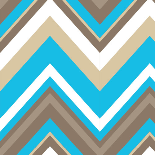 Bavlna Chevron Bright Now Aqua
