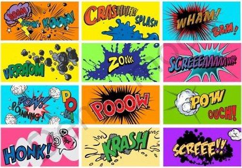 Nažehlovací obrázky - Komiks I. - cena za všechny
