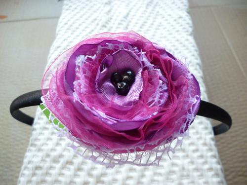 dětská čelenka s textilním květem