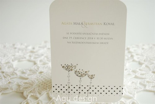 Na louce - svatební oznámení